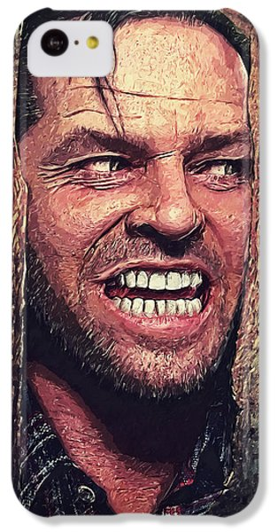 Jack Nicholson iPhone 5c Case - Here's Johnny - The Shining  by Taylan Soyturk