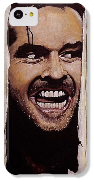 Jack Nicholson iPhone 5c Case - Here's Johnny by Tom Carlton