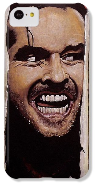 The iPhone 5c Case - Here's Johnny by Tom Carlton