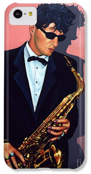 Saxophone iPhone 5c Case - Herman Brood by Paul Meijering