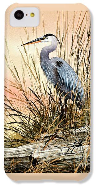 Heron Sunset IPhone 5c Case by James Williamson