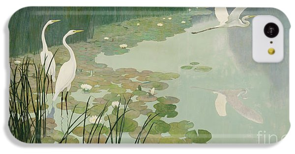 Herons In Summer IPhone 5c Case by Newell Convers Wyeth