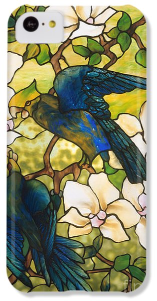 Hibiscus And Parrots IPhone 5c Case by Louis Comfort Tiffany