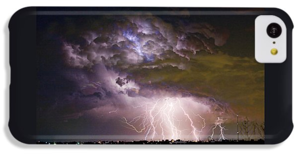 Highway 52 Storm Cell - Two And Half Minutes Lightning Strikes IPhone 5c Case