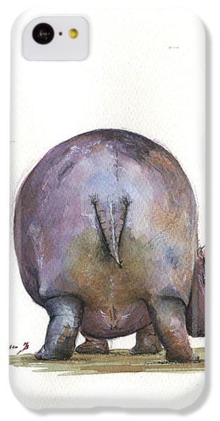 Hippopotamus iPhone 5c Case - Hippo Back by Juan Bosco
