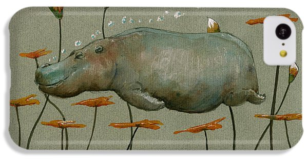 Hippo Underwater IPhone 5c Case by Juan  Bosco