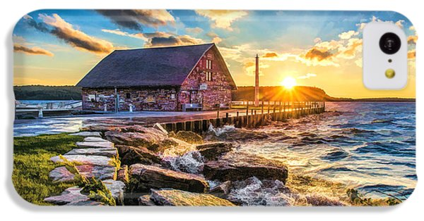 Historic Anderson Dock In Ephraim Door County IPhone 5c Case by Christopher Arndt