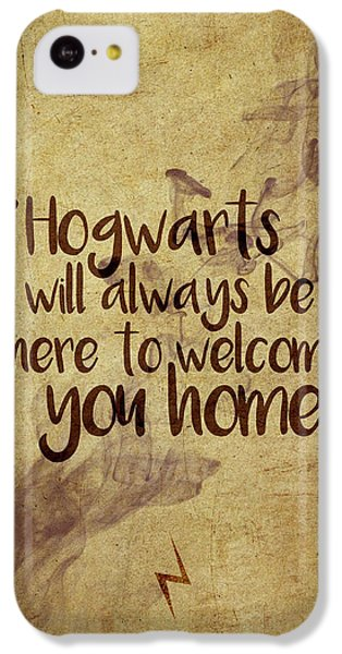 Wizard iPhone 5c Case - Hogwarts Is Home by Samuel Whitton