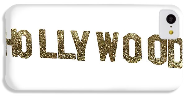 Beverly Hills iPhone 5c Case - Hollywood Gold Glitter Sign by Mindy Sommers