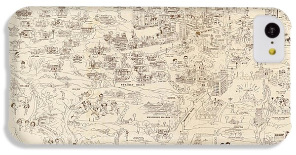 Hollywood Map To The Stars 1937 IPhone 5c Case
