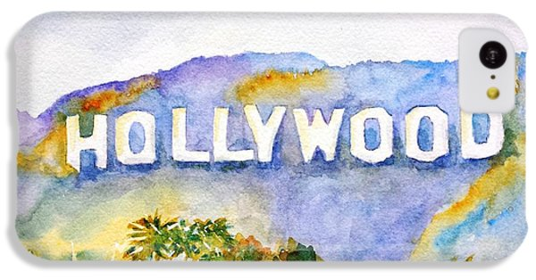 Hollywood iPhone 5c Case - Hollywood Sign California by Carlin Blahnik CarlinArtWatercolor
