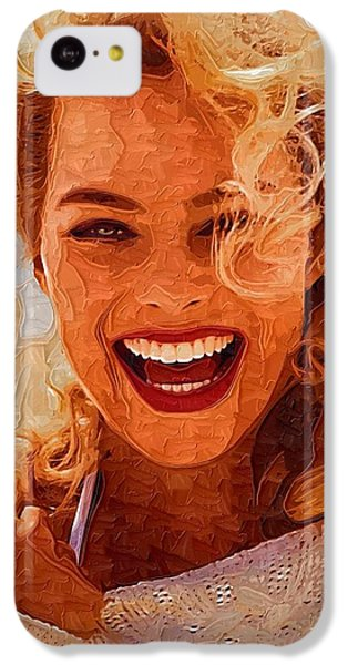 Hollywood Star Margot Robbie IPhone 5c Case