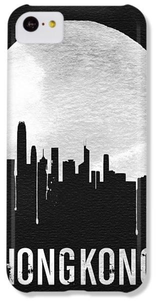 Hong Kong Skyline Black IPhone 5c Case by Naxart Studio