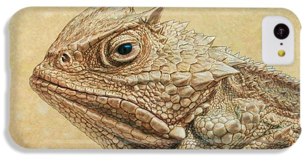 Frogs iPhone 5c Case - Horned Toad by James W Johnson