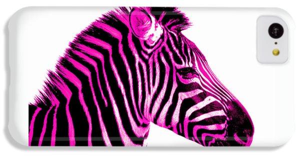 Hot Pink Zebra IPhone 5c Case by Rebecca Margraf