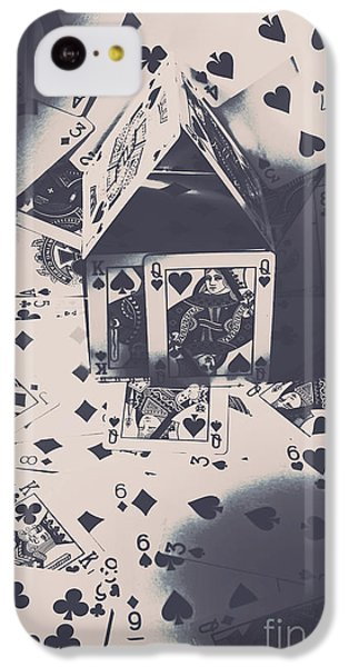 IPhone 5c Case featuring the photograph House Of Cards by Jorgo Photography - Wall Art Gallery