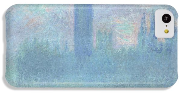 Houses Of Parliament  London IPhone 5c Case by Claude Monet