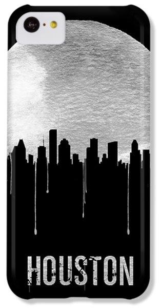 Universities iPhone 5c Case - Houston Skyline Black by Naxart Studio