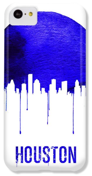 Universities iPhone 5c Case - Houston Skyline Blue by Naxart Studio