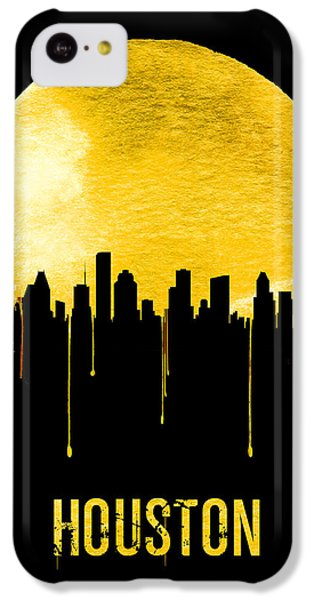 Universities iPhone 5c Case - Houston Skyline Yellow by Naxart Studio