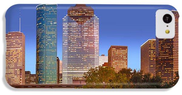 City Sunset iPhone 5c Case - Houston Texas Skyline At Dusk by Jon Holiday