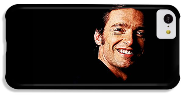 Scarlett Johansson iPhone 5c Case - Hugh Jackman by Queso Espinosa