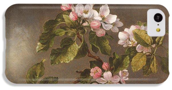 Humming Bird iPhone 5c Case - Hummingbird And Apple Blossoms by Martin Johnson Heade