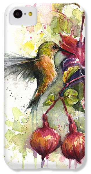 Hummingbird And Fuchsia IPhone 5c Case by Olga Shvartsur