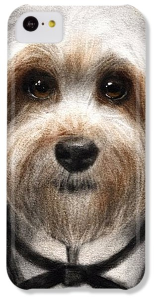 Humorous Dressed Dog Painting By IPhone 5c Case