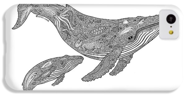 Humpback And Calf IPhone 5c Case by Carol Lynne