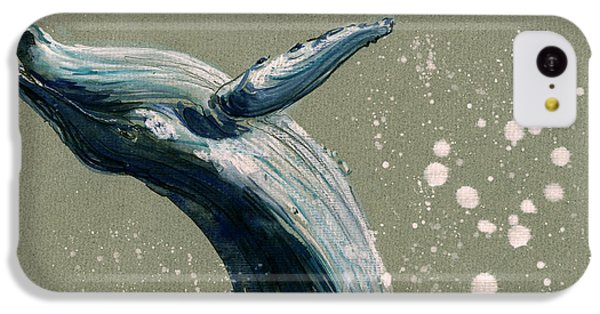 Humpback Whale Swimming IPhone 5c Case by Juan  Bosco