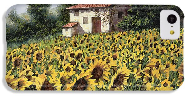 Sunflower iPhone 5c Case - I Girasoli Nel Campo by Guido Borelli