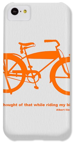 I Thought Of That While Riding My Bike IPhone 5c Case by Naxart Studio