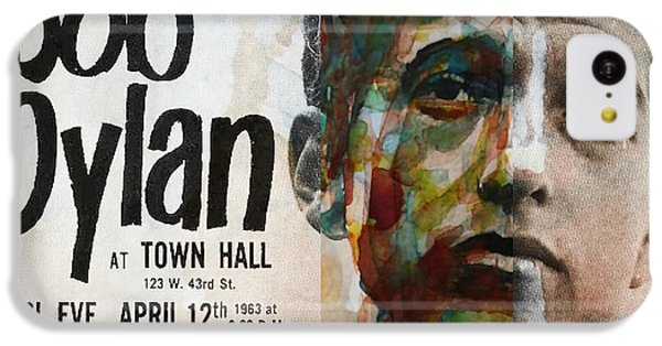 Bob Dylan iPhone 5c Case - I Want You - Retro Poster  by Paul Lovering