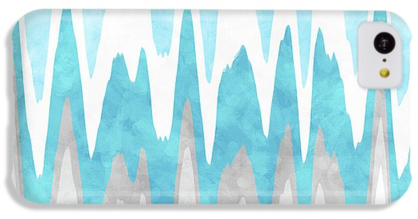 Ice Blue Abstract IPhone 5c Case by Christina Rollo