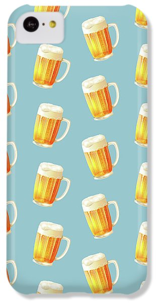Ice Cold Beer Pattern IPhone 5c Case by Little Bunny Sunshine