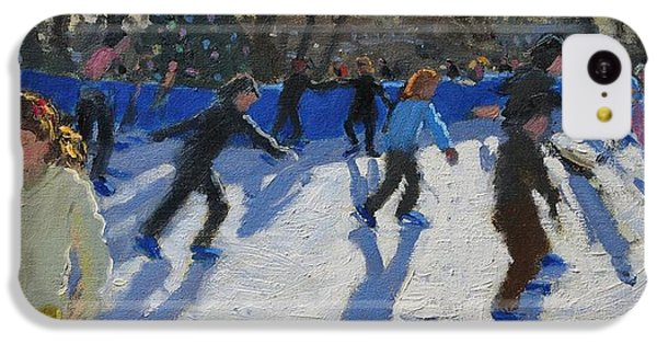 Ice Skaters At Christmas Fayre In Hyde Park  London IPhone 5c Case by Andrew Macara