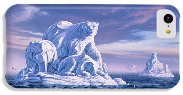 Polar Bear iPhone 5c Case - Icebeargs by Jerry LoFaro