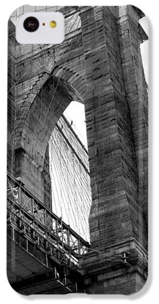 Brooklyn Bridge iPhone 5c Case - Iconic Arches by Az Jackson