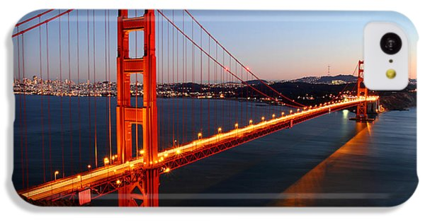 Iconic Golden Gate Bridge In San Francisco IPhone 5c Case by Pierre Leclerc Photography
