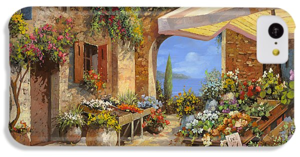 Vegetables iPhone 5c Case - Il Mercato Del Lago by Guido Borelli