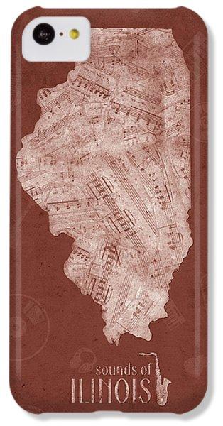Illinois Map Music Notes 5 IPhone 5c Case