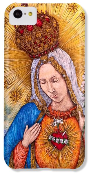 Immaculate Heart Of Virgin Mary IPhone 5c Case by Kent Chua