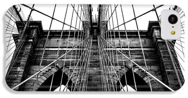 Brooklyn Bridge iPhone 5c Case - Imposing Arches by Az Jackson
