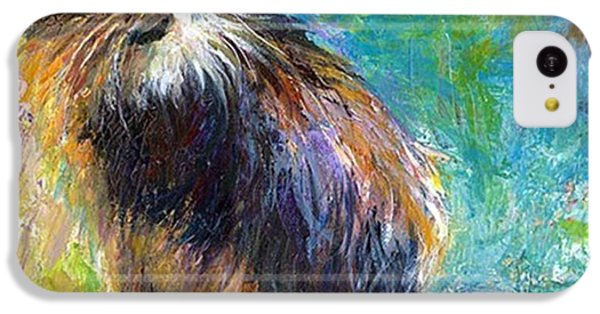 Impressionistic Tuxedo Cat Painting By IPhone 5c Case