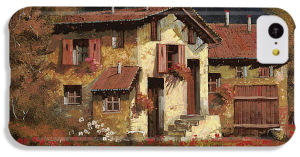 Rural Scenes iPhone 5c Case - In Campagna La Sera by Guido Borelli