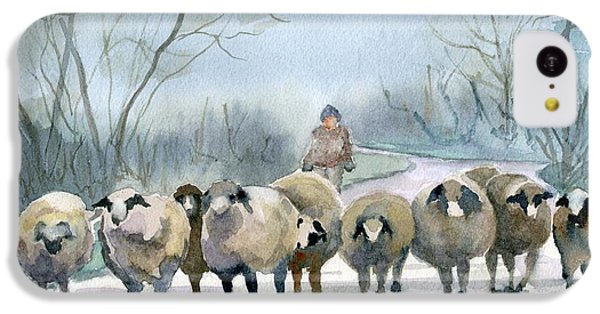 Sheep iPhone 5c Case - In The Morning Mist by Marsha Elliott