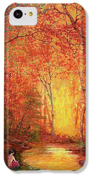 Figurative iPhone 5c Case - In The Presence Of Light Meditation by Jane Small