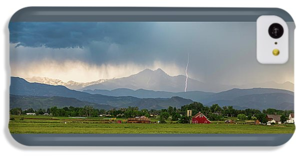 IPhone 5c Case featuring the photograph Incoming Storm Panorama View by James BO Insogna