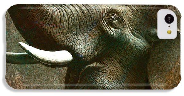 Trumpet iPhone 5c Case - Indian Elephant 2 by Jerry LoFaro